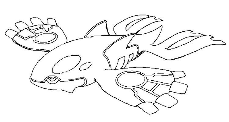 Legendary Pokemon Coloring Pages Kyogre