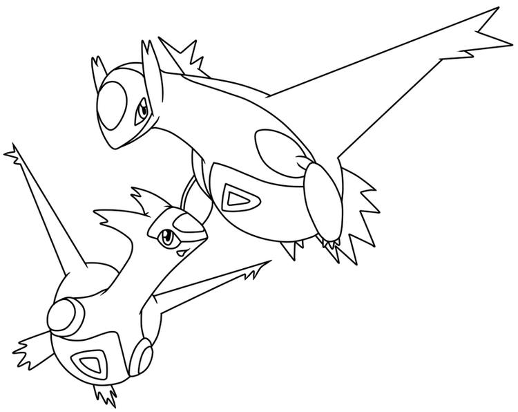 Legendary Pokemon Coloring Pages Latios And Latias