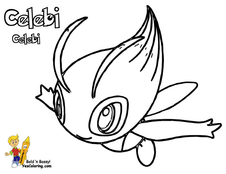 Legendary Pokemon Coloring Pages To Print Out