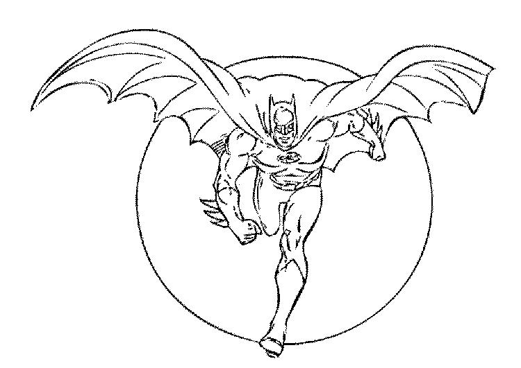 Lego Batman Coloring Pages Flying