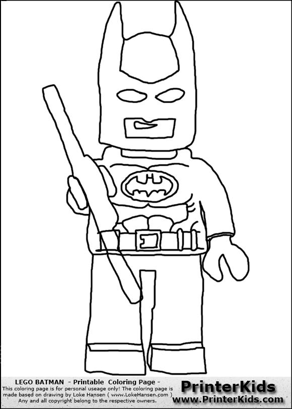 Lego Batman Standing Coloring Page Preview
