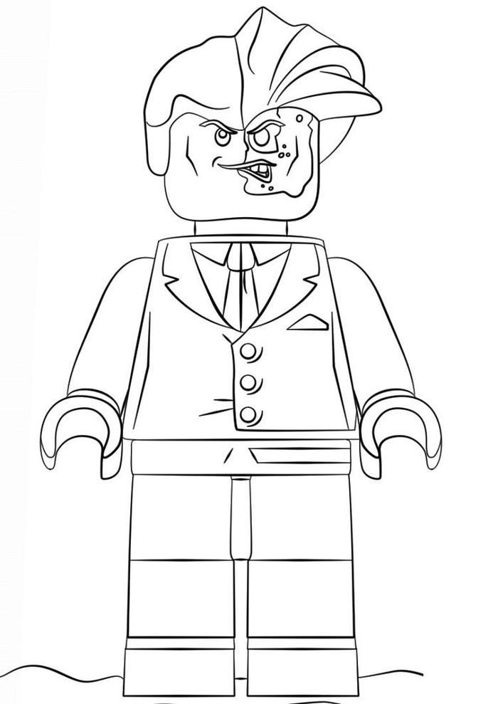 Lego Coloring Pages Batman Two Face
