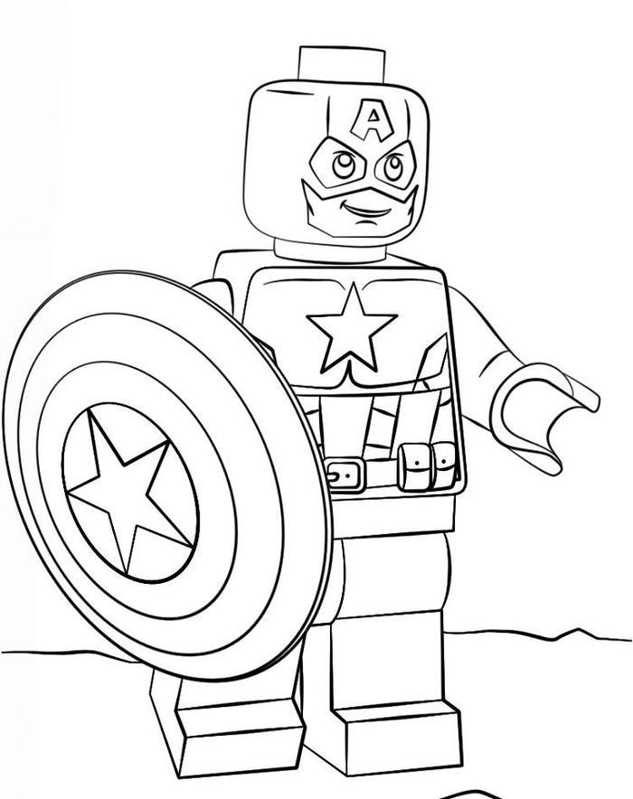 Lego coloring pages captain america