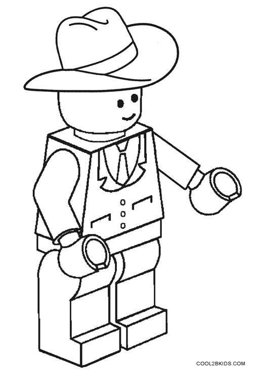 Lego Coloring Pages Cowboy