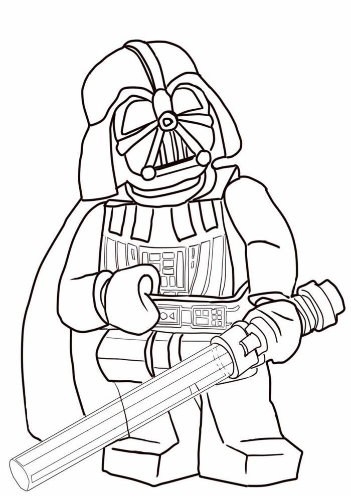 Lego Coloring Pages Darth Vader