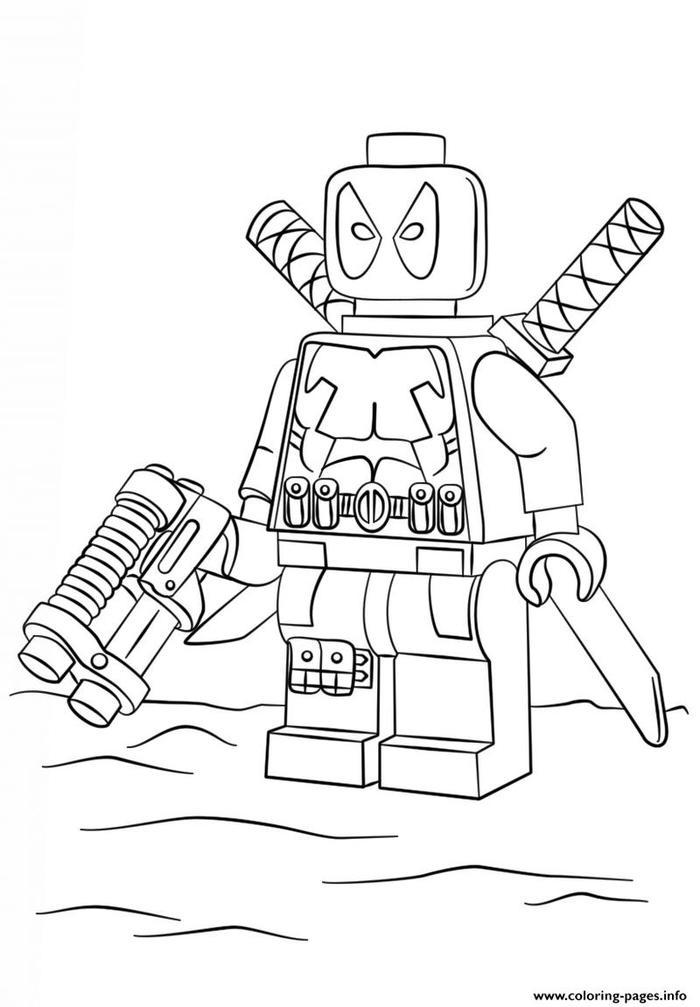Lego Coloring Pages Deadpool