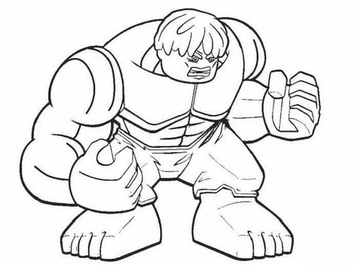Lego Coloring Pages Hulk