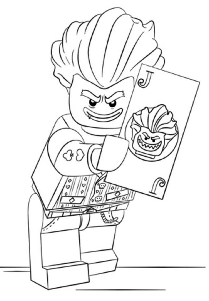 Lego Coloring Pages Joker