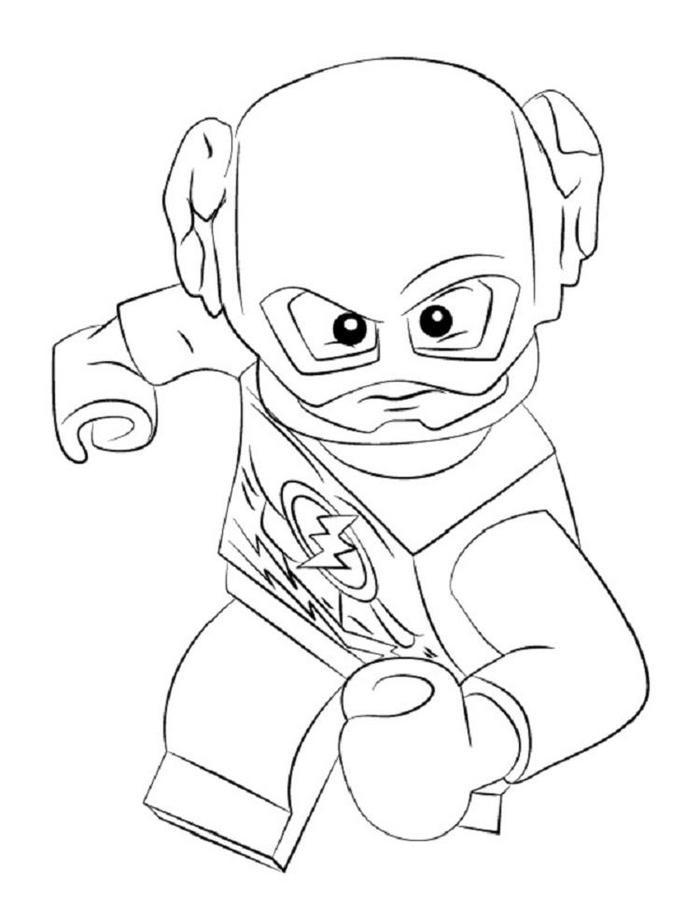 Lego Coloring Pages Kid Flash