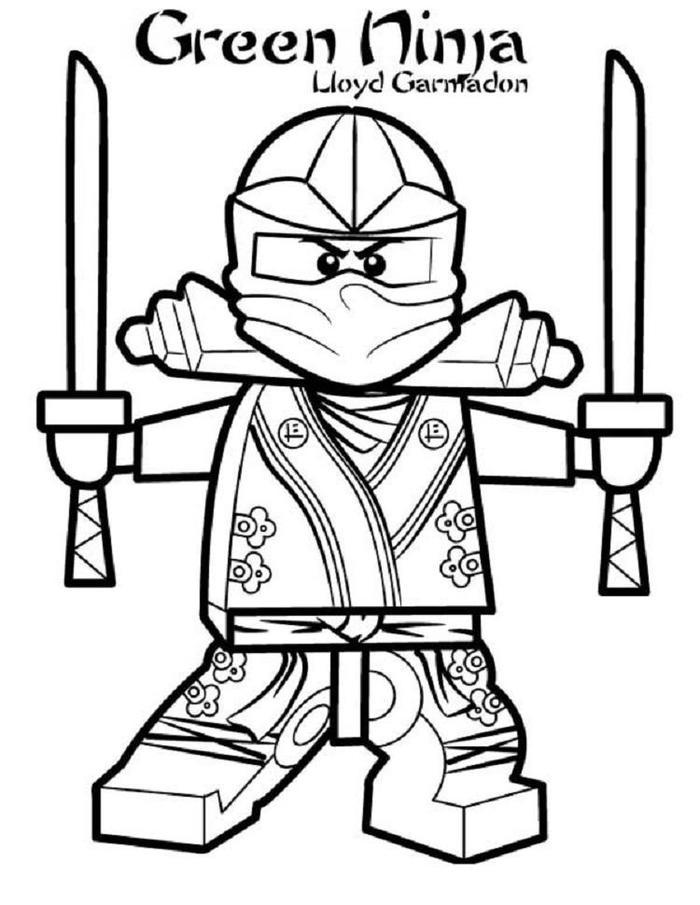 Lego Coloring Pages Lloyd