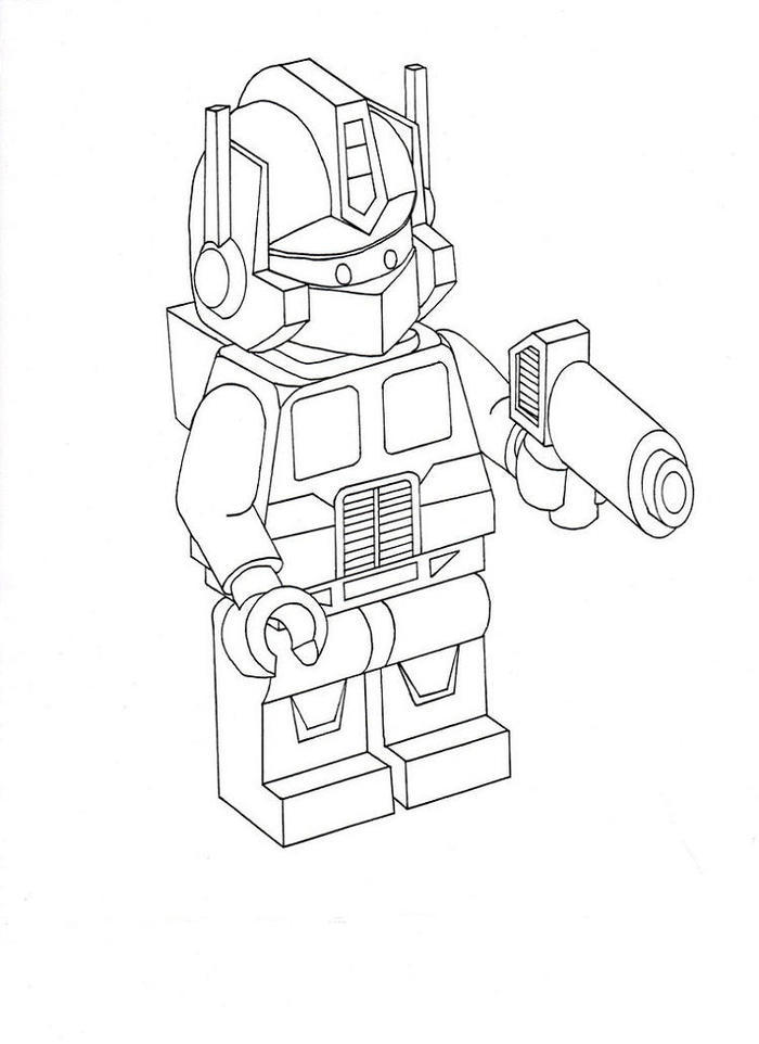 Lego Coloring Pages Optimus Prime