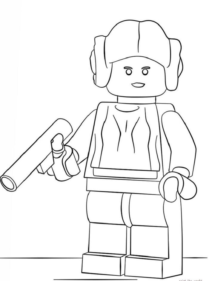 Lego Coloring Pages Princess Leia