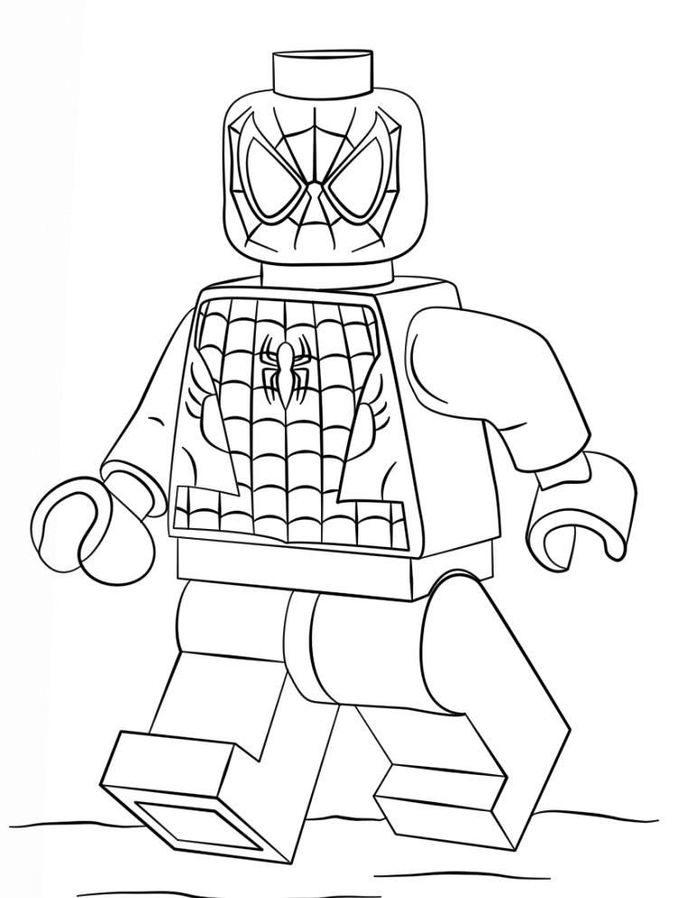 Lego Coloring Pages Spiderman