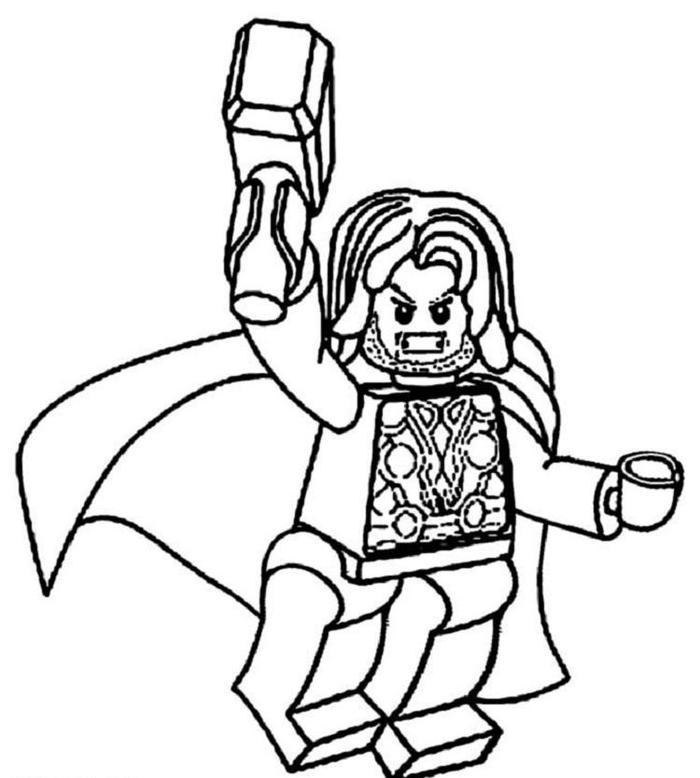 Lego Coloring Pages Thor