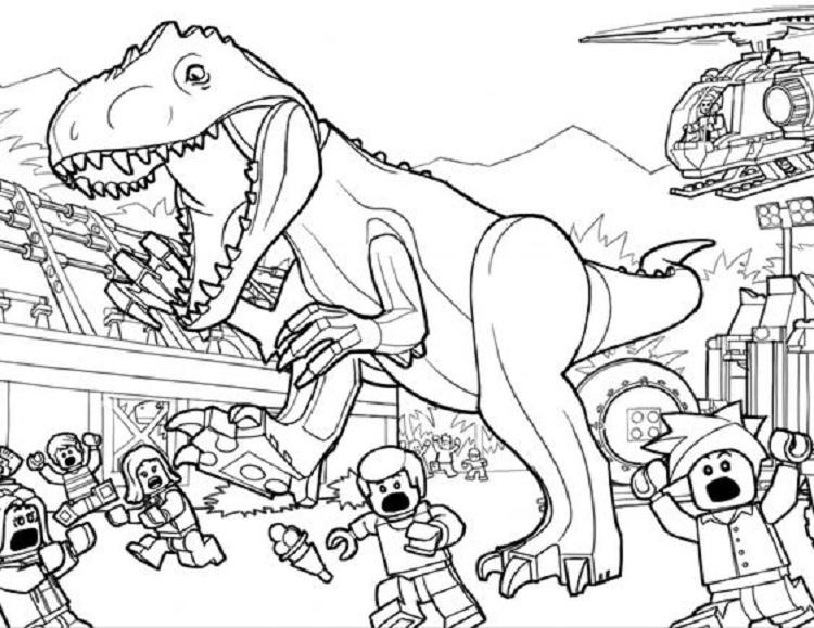 Lego Dinosaur Coloring Pages