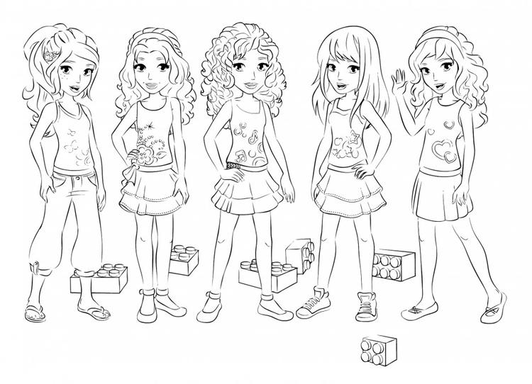 Lego Friends Coloring Pages All Characters