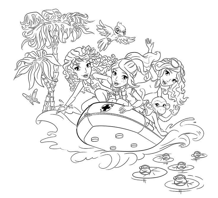 Lego Friends Coloring Pages Free To Print