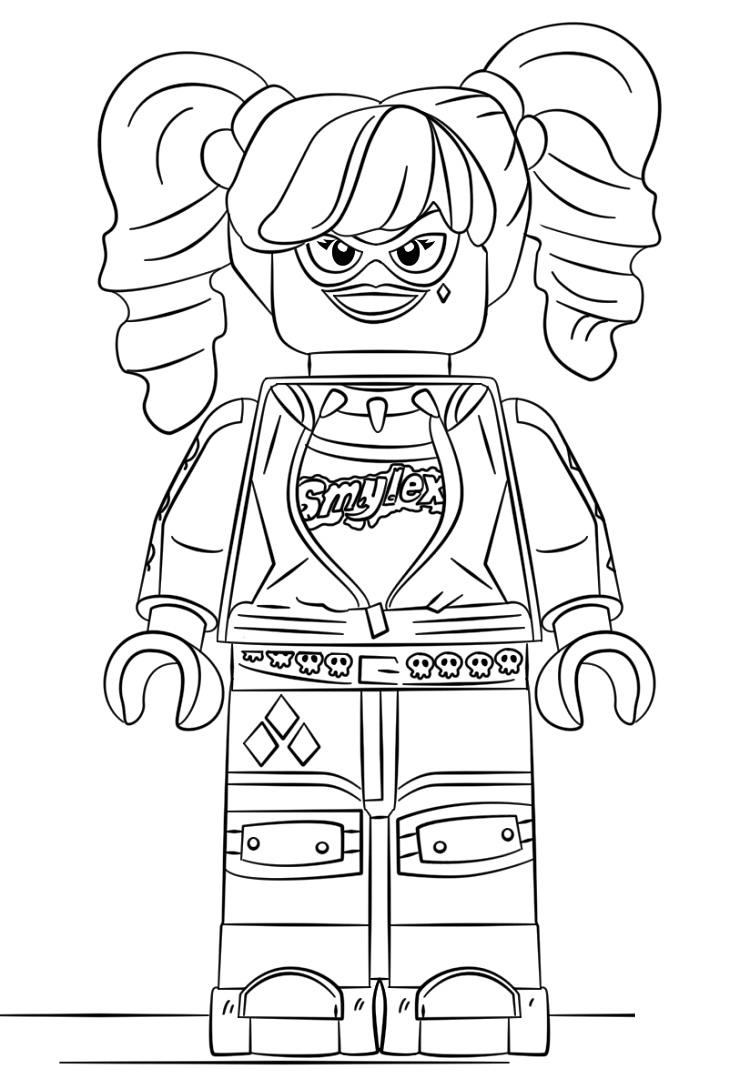 Lego Harley Quinn Printable Coloring Pages