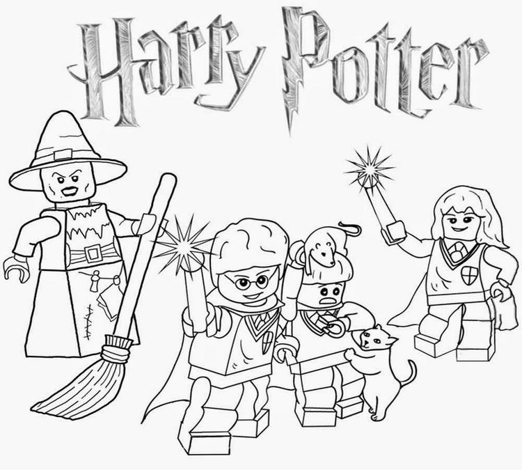 Lego Harry Potter Character Coloring Page