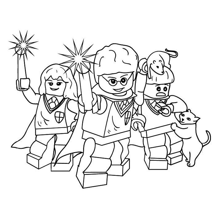 Lego Harry Potter Magic Wand Coloring Pages