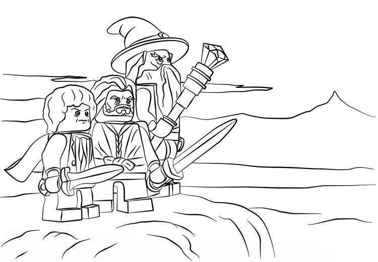 Lego Hobbit Coloring Pages