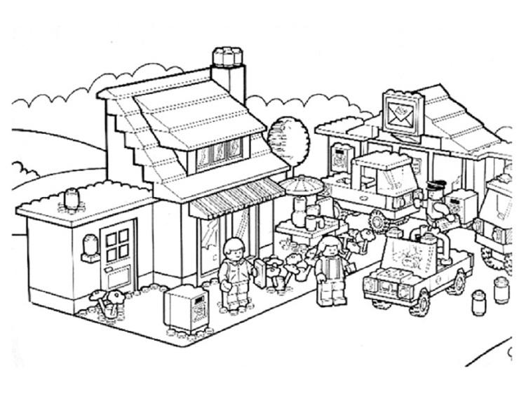 Lego House Coloring Pages