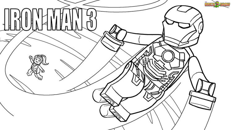 Lego Iron Man Coloring Page Printable
