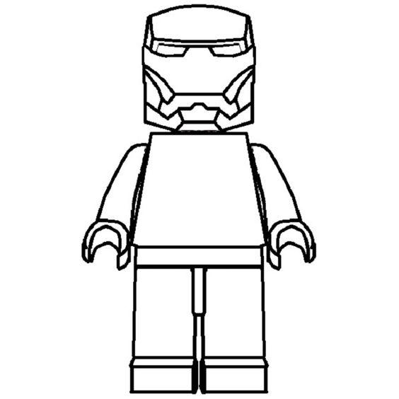 Lego Iron Man Coloring Pages For Kids