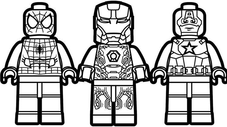 Lego Iron Man Spiderman Star War Coloring Page