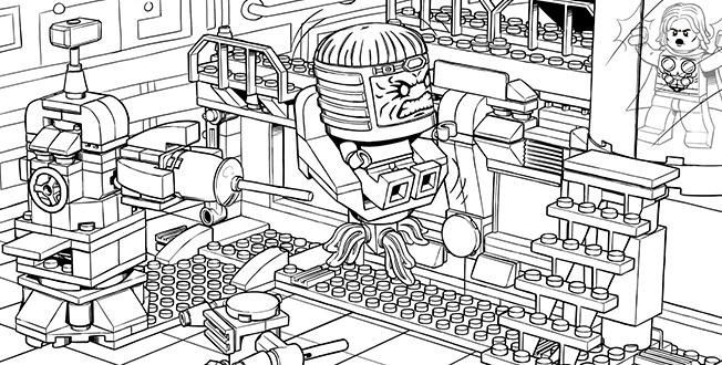 Lego Marvel Coloring Pages For Adult 1
