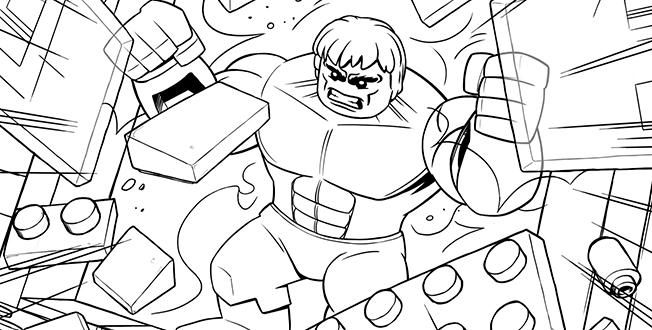 Lego Marvel Coloring Pages For Children