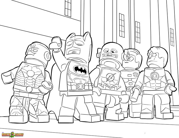 Lego Marvel Coloring Pages For Kids 1