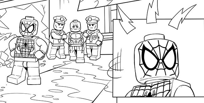 Lego Marvel Coloring Pages Print Out