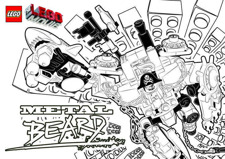 Lego Movie Coloring Pages Metal Beard