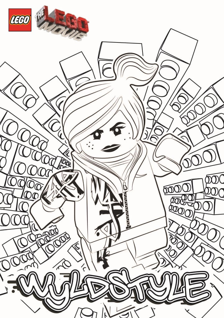 Lego Movie Coloring Pages Wyldstyle