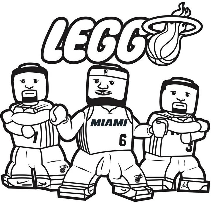 Lego Nba Coloring Pages