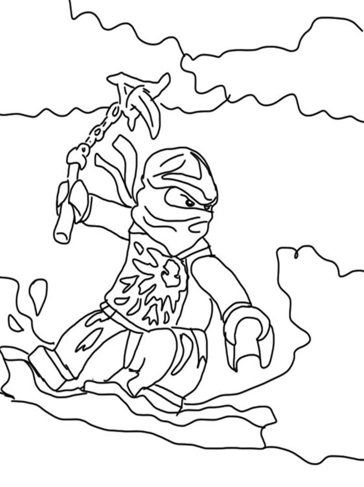 Lego Ninjago Coloring Pages For Kids 2