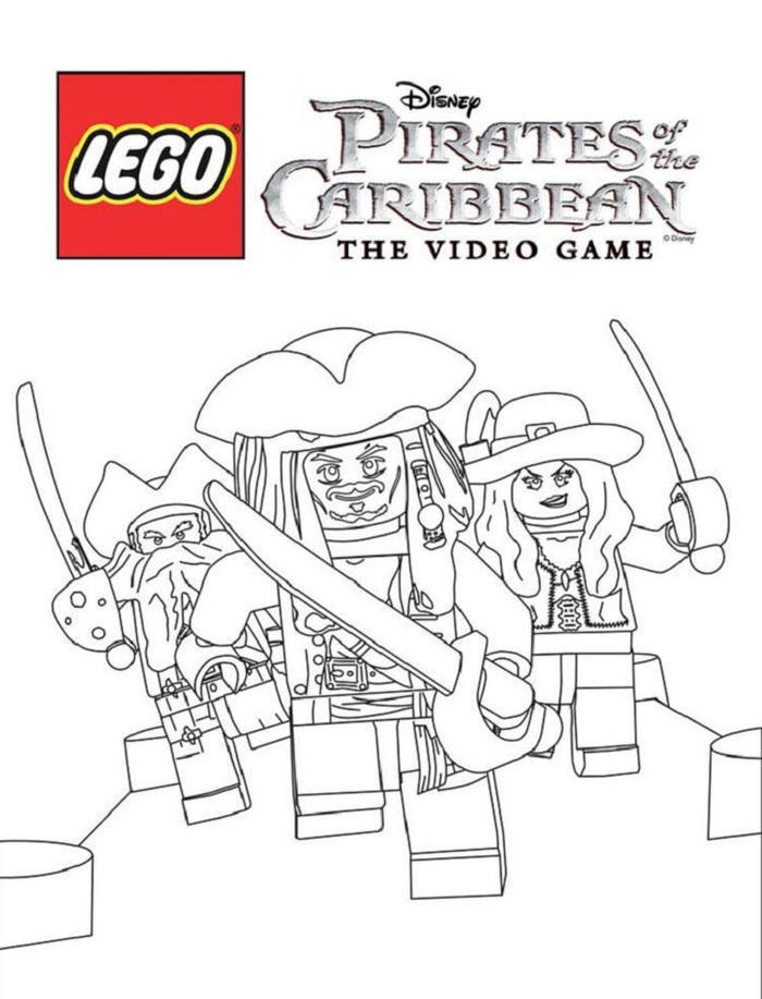 Lego Pirate Of The Caribbean Coloring Pages