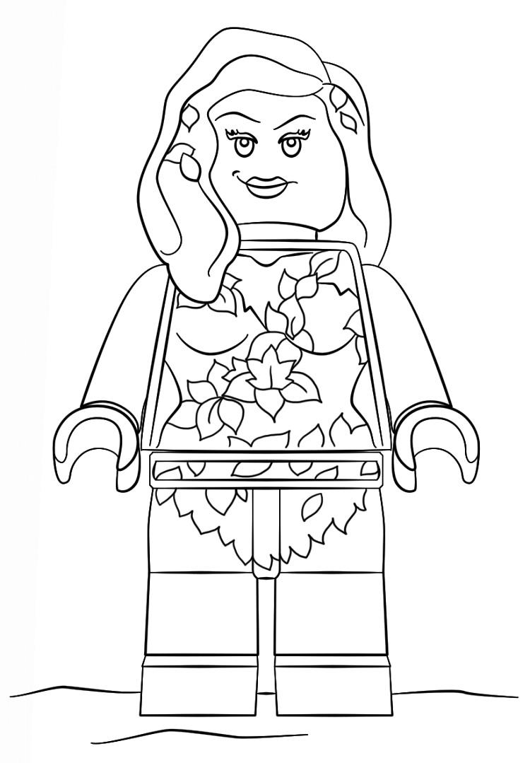 Lego Poison Ivy Coloring Pages