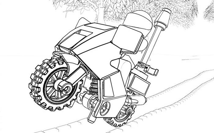 Lego Police Motor Coloring Page