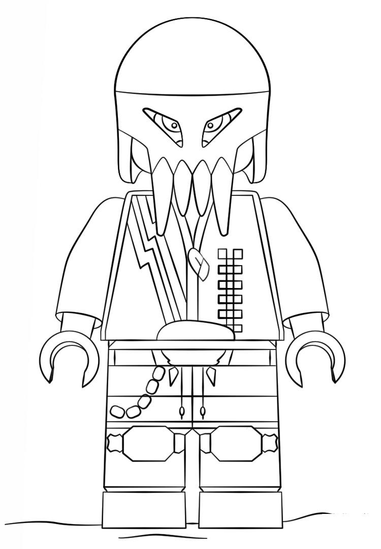 Lego Space Coloring Pages