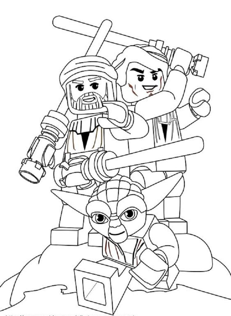 Lego Star Wars Minifigures Coloring Pages