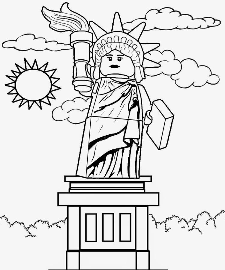 Lego Statue Of Liberty Coloring Page
