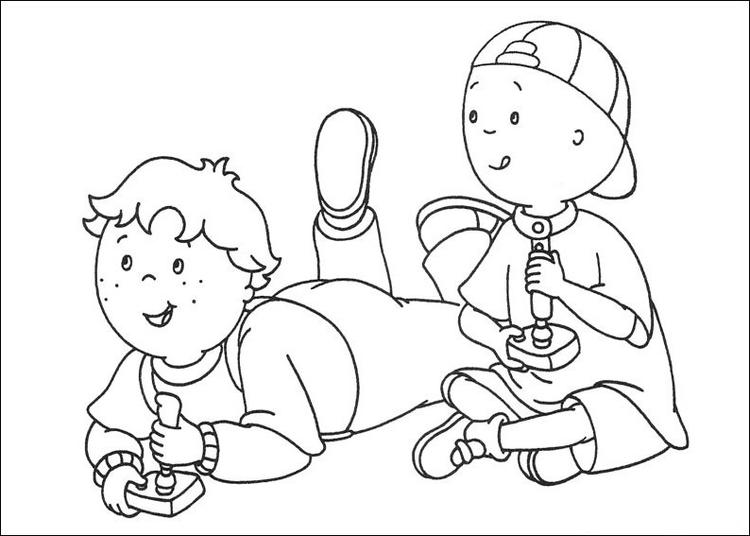 Leo And Caillou Coloring Pages