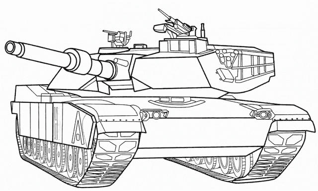 Leopard Tank Coloring Pages