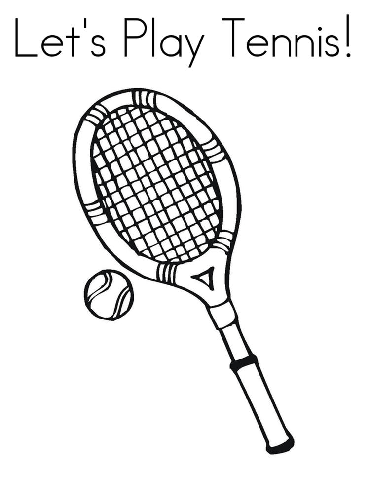 Lets Play Tennis Coloring Pages