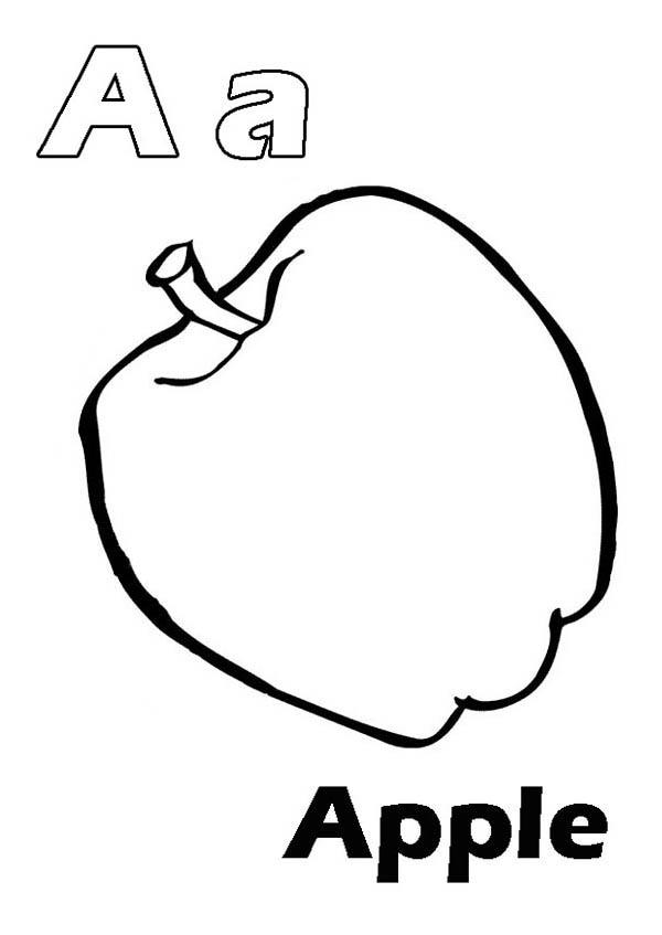 Letter A Coloring Pages A For Apple