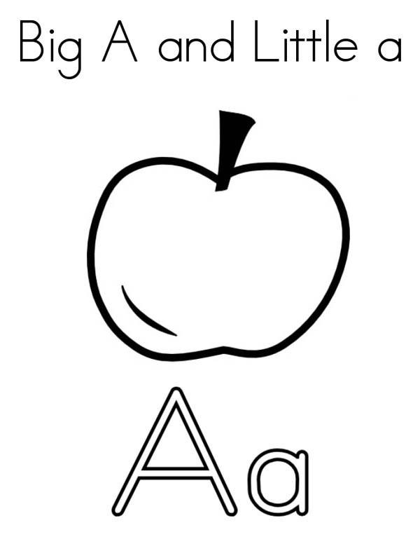 Letter A Coloring Pages A Is For Apple