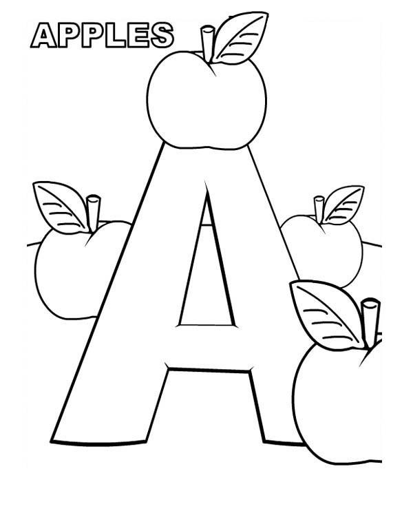Letter A Coloring Pages To Print