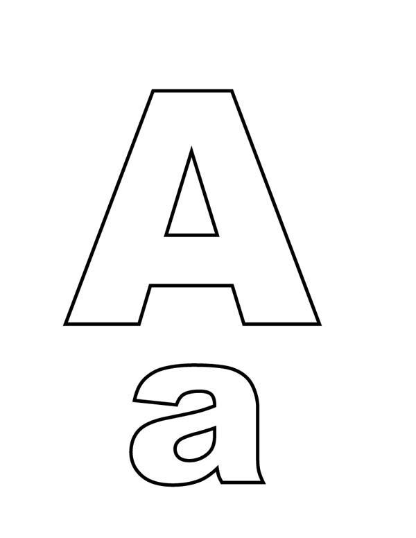 Letter A Coloring Pages Uppercase Lowercase